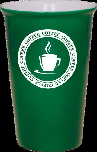 Green Ceramic Latte Mug