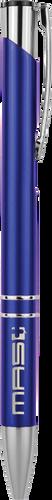 Gloss Blue Ballpoint Pen with Silver Trim