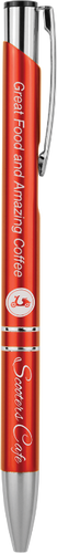 Gloss Red Ballpoint Pen with Silver Trim