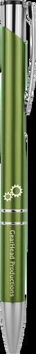 Gloss Green Ballpoint Pen with Silver Trim