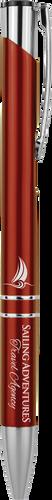 Gloss Burgundy Ballpoint Pen with Silver Trim