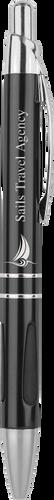 Gloss Black Ballpoint Pen with Gripper