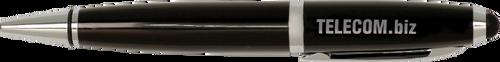 Gloss Black Wide Barrel Pen with Stylus & Silver Trim