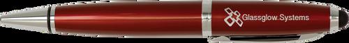 Gloss Burgundy Wide Barrel Pen with Stylus & Silver Trim