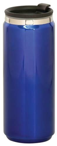Gloss Blue Stainless Steel King Can Travel Mug