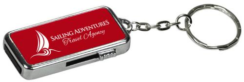 GB Red Metal USB Flash Drive Keychain