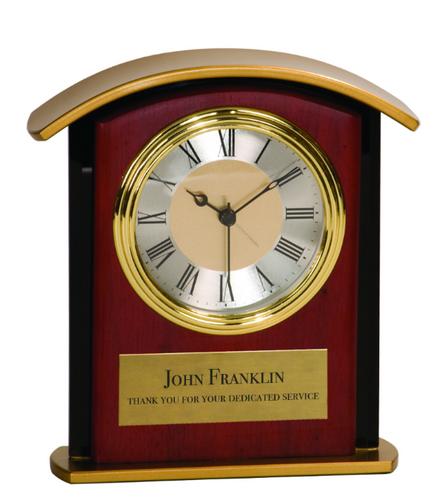 Mahogony Finish Gold Top Clock