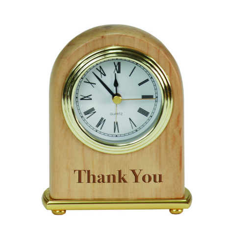 Genuine Red Alder Desk Clock