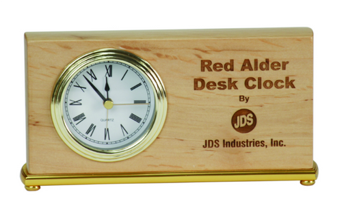 Genuine Red Alder Horizontal Desk Clock