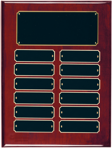 Rosewood Piano Finish Perpetual Plaque