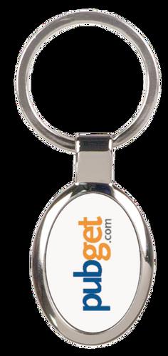 Silver Metal Oval Keychain