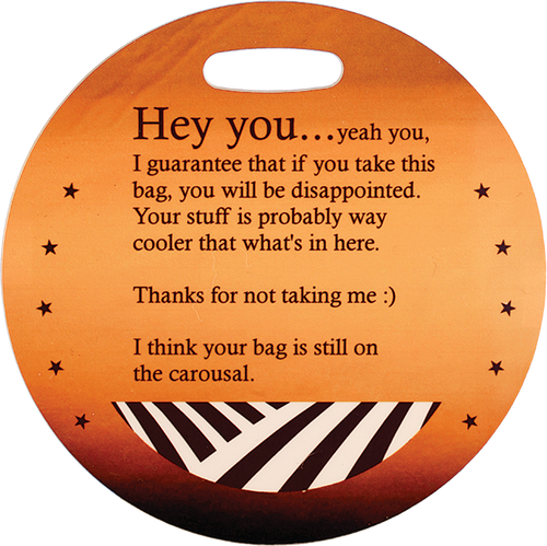 Diameter 2-Sided Gloss Round Plastic Bag Tag