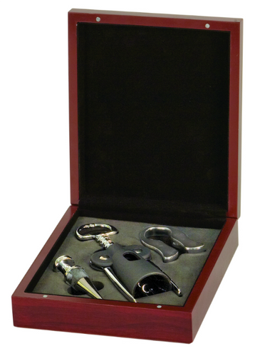 Rosewood Finish 3-Piece Wine Tool Gift Set