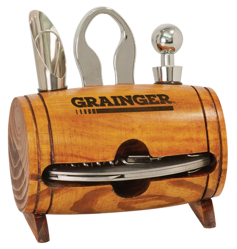 Wine Barrel 4-Piece Wine Tool Set