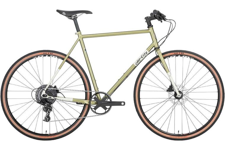 All-City Super Professional Apex 1 Bike - 700c, Steel, Flash Basil, 52cm