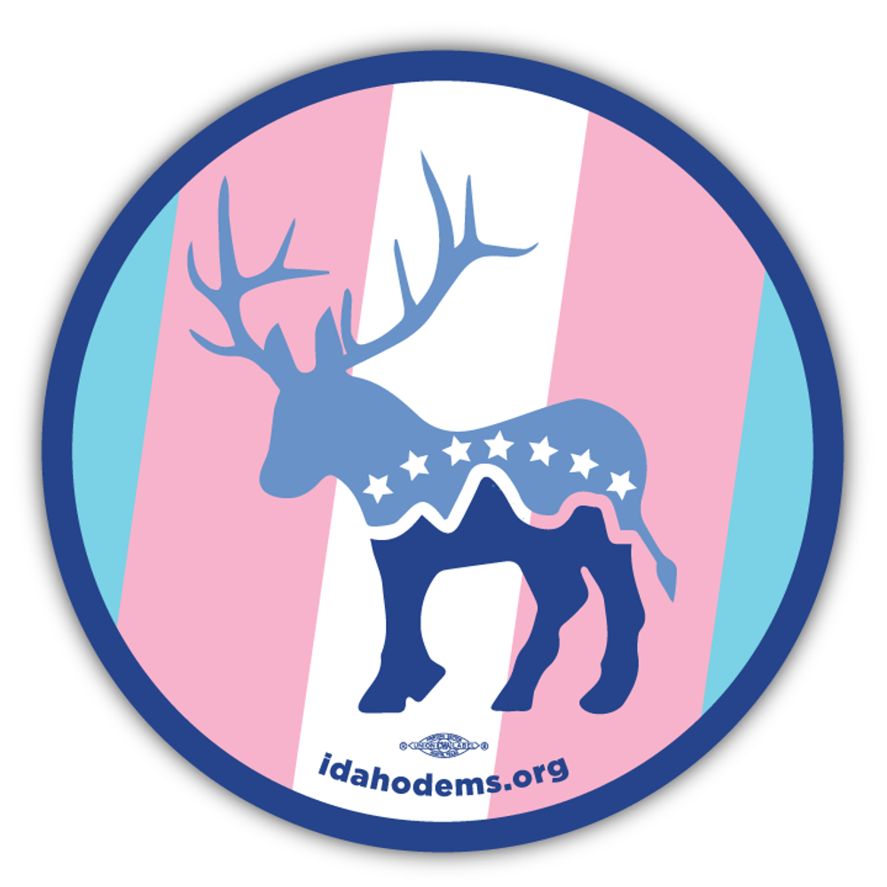 "Donkalope Trans Pride (3.5"" x 3.5"" Vinyl Sticker -- Pack of Two!)"