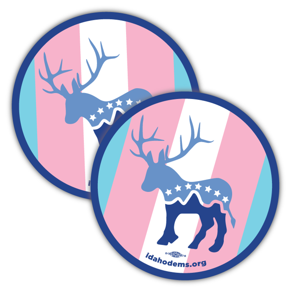 """Donkalope Trans Pride (3.5"""" x 3.5"""" Vinyl Sticker -- Pack of Two!)"""