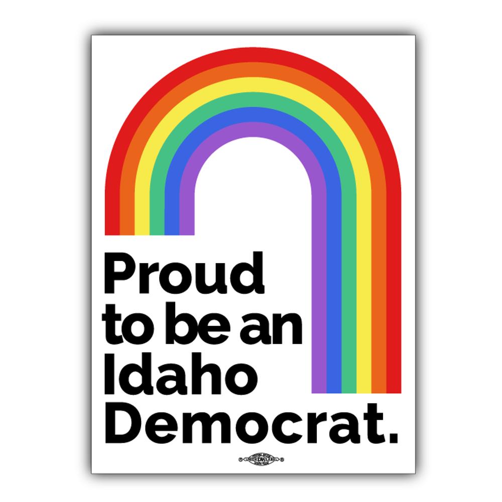 "Proud To Be An Idaho Democrat (3"" x 4"" Vinyl Sticker)"