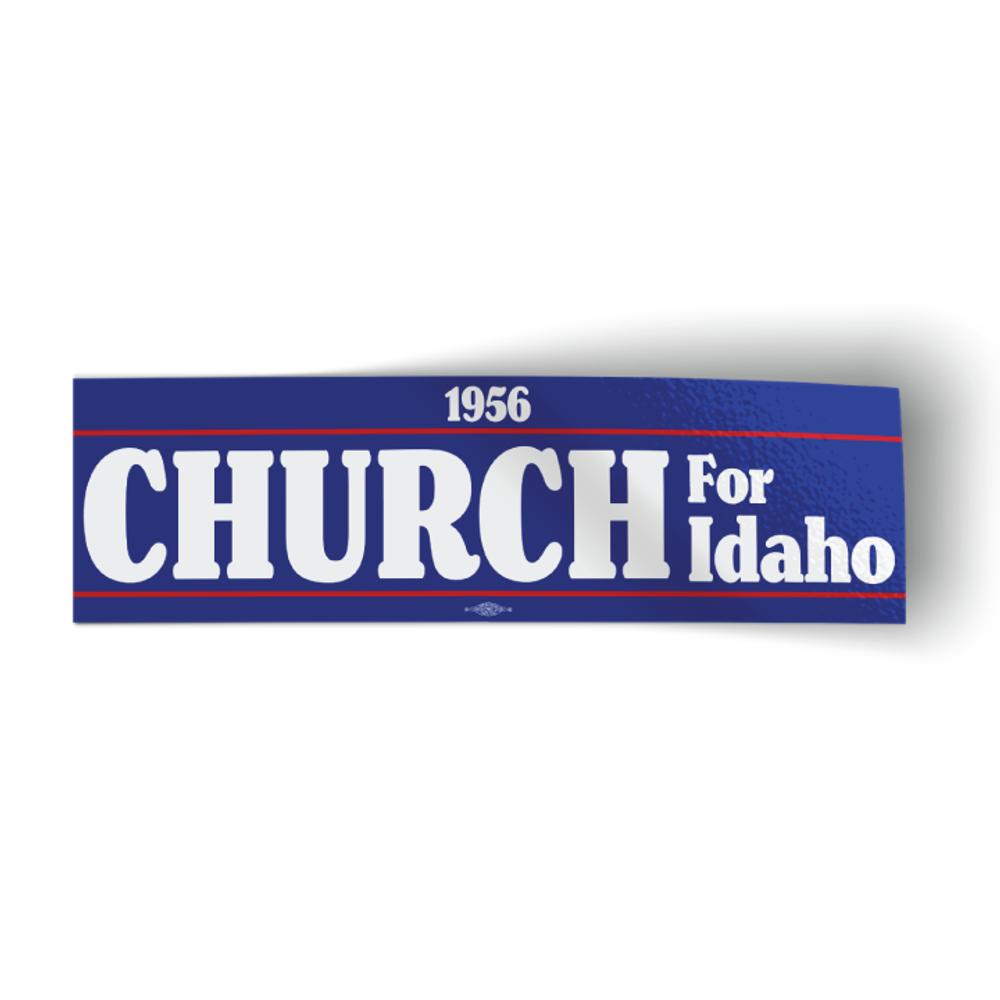 """Church For Idaho 1956 - Blue (10"""" x 3"""" Bumper Sticker)"""