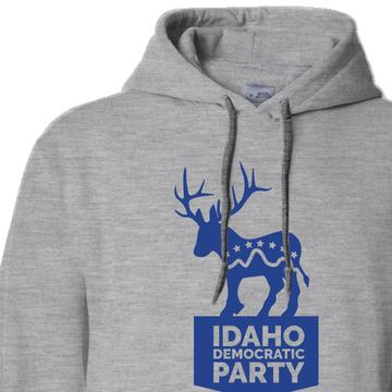 """Donkalope"" logo graphic (Dark Ash Adult Hooded Pullover Fleece)"