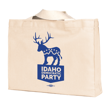 """""""Donkalope"""" logo graphic on (Natural Canvas Tote)"""