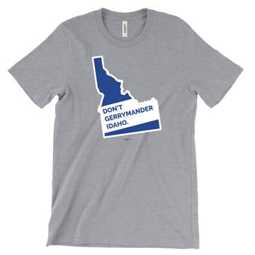 Don't Gerrymander Idaho (Athletic Heather Tee)