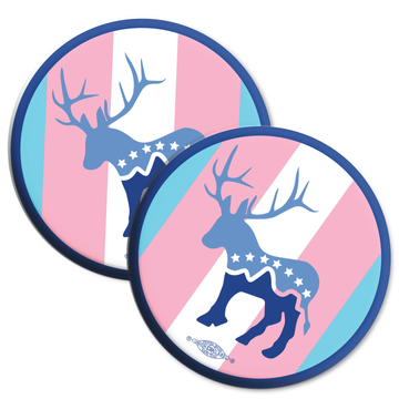 """Donkalope Trans Pride (2.25"""" Mylar Button -- Pack Of Two!)"""