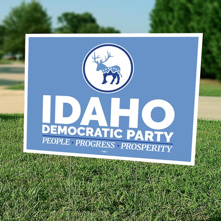 """Idaho Democratic Party"" graphic (24"" x 18"" Coroplast Yard Sign)"