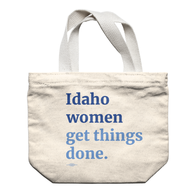Idaho Women Get Things Done (Natural Canvas Tote)