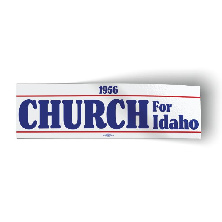 "Church For Idaho 1956 - White (10"" x 3"" Bumper Sticker)"