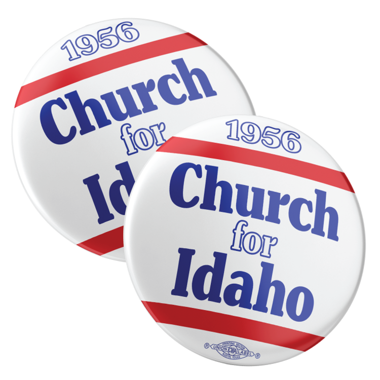 """Church For Idaho (2.25"""" Pin-Back Button -- Pack Of Two!)"""