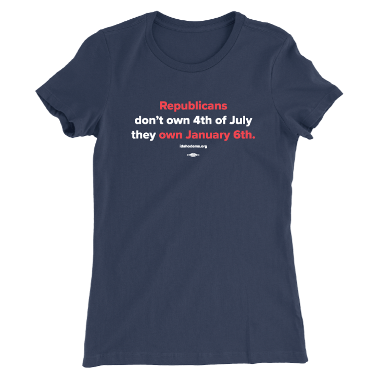 Republicans Own January 6th (Women's Navy Tee)