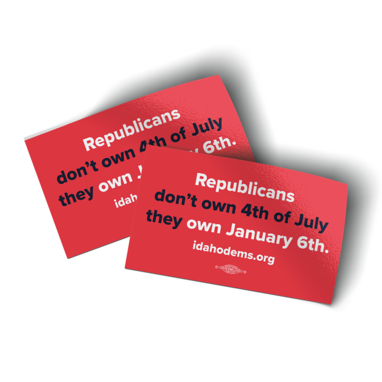 """Republicans Own January 6th - Red Colorway (5"""" x 3"""" Vinyl Sticker -- Pack of Two!)"""