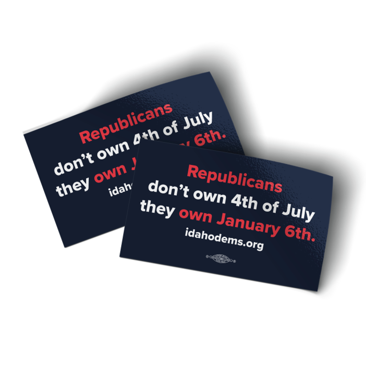 """Republicans Own January 6th - Navy Colorway (5"""" x 3"""" Vinyl Sticker -- Pack of Two!)"""