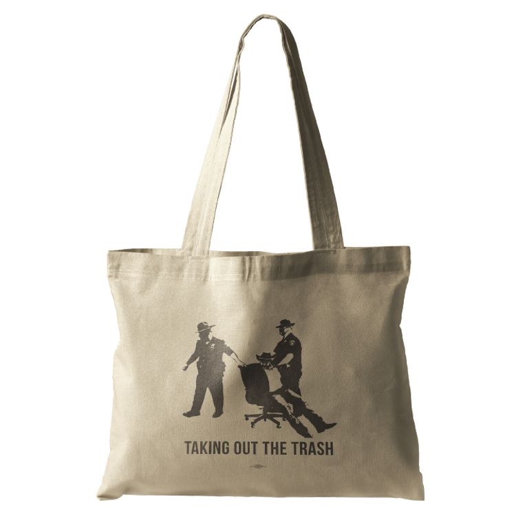Taking Out The Trash (Natural Canvas Tote)