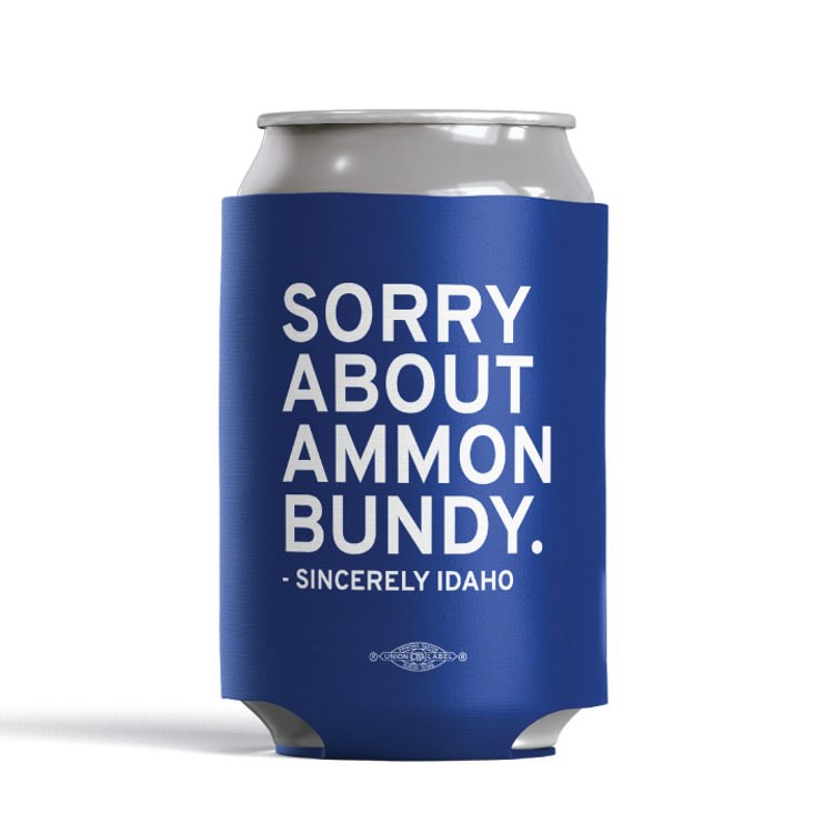 Sorry About Ammon Bundy (Royal Blue Foam Can Cooler)