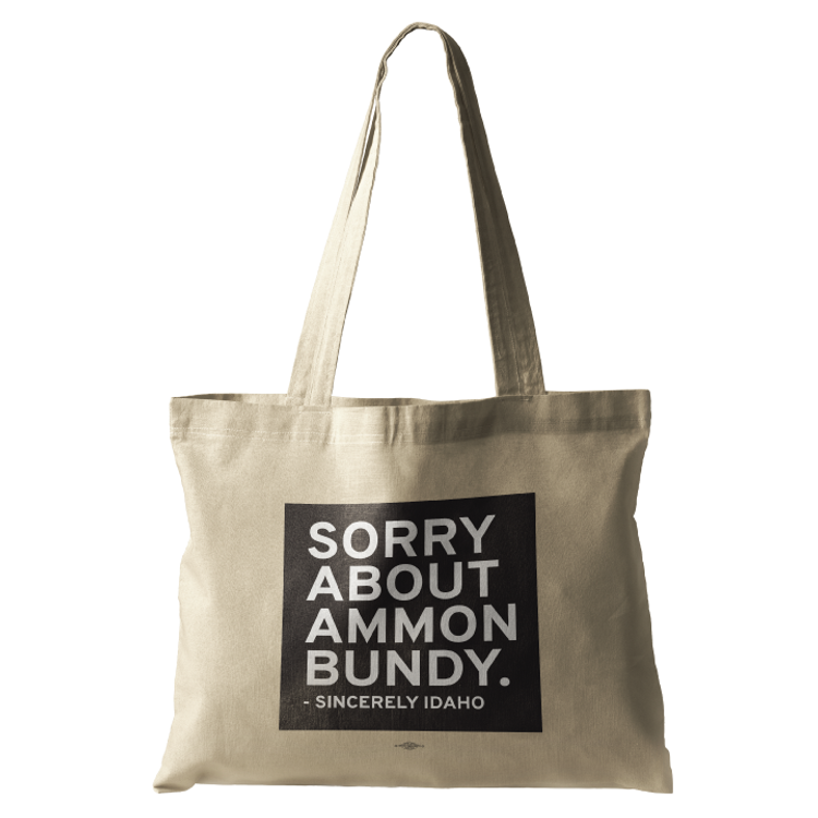 Sorry About Ammon Bundy (Natural Canvas Tote)