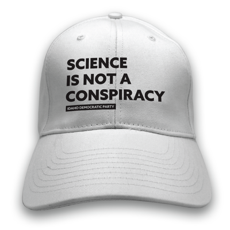 Science Is Not A Conspiracy (White Baseball Cap)