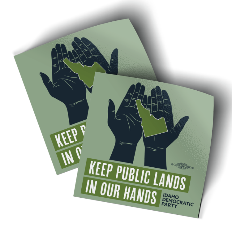"""Keep Public Lands In Our Hands - Hands (3.5"""" x 3.5"""" Vinyl Sticker -- Pack of Two!)"""