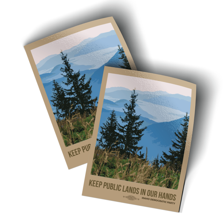 """Keep Public Lands In Our Hands - Trees (3"""" x 4"""" Vinyl Sticker -- Pack of Two!)"""