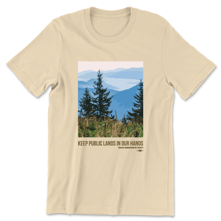 Keep Public Lands In Our Hands - Trees (Unisex Champagne Tee)