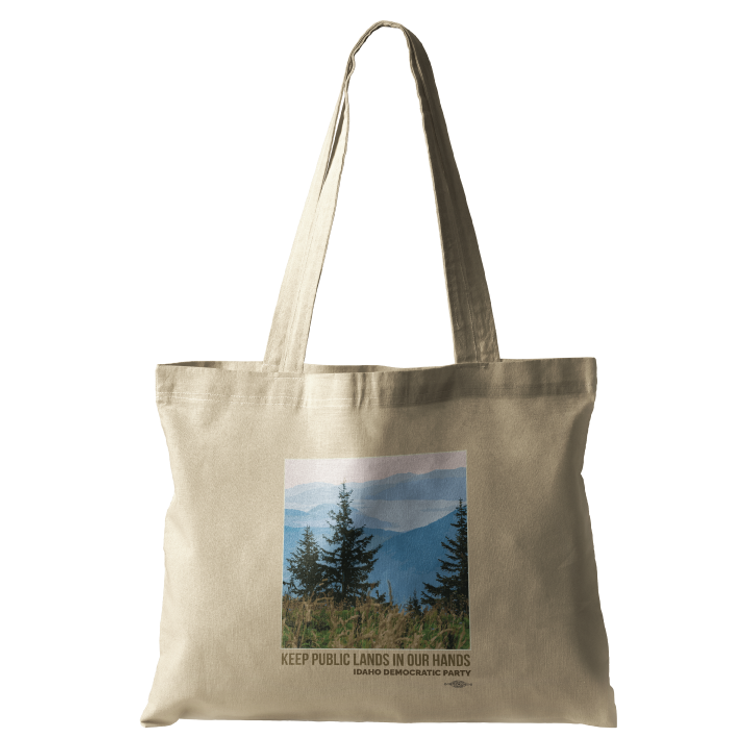 Keep Public Lands In Our Hands (Natural Canvas Tote)