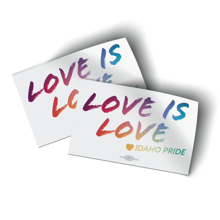 """Love Is Love (4"""" x 3"""" Vinyl Sticker -- Pack of Two!)"""