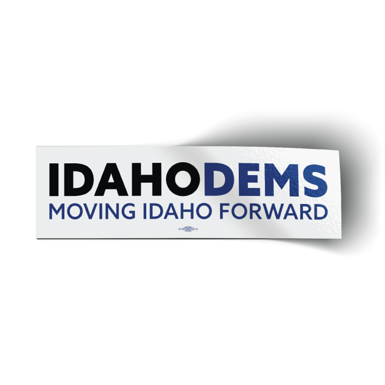 "Moving Idaho Forward (10"" x 3"" Vinyl Sticker)"