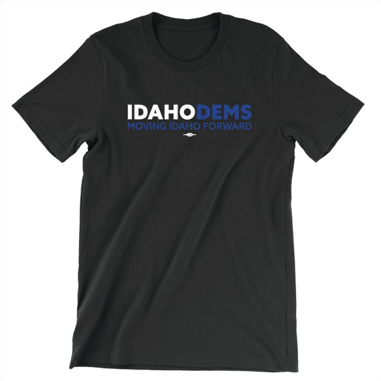 Moving Idaho Forward (Unisex Black Tee)