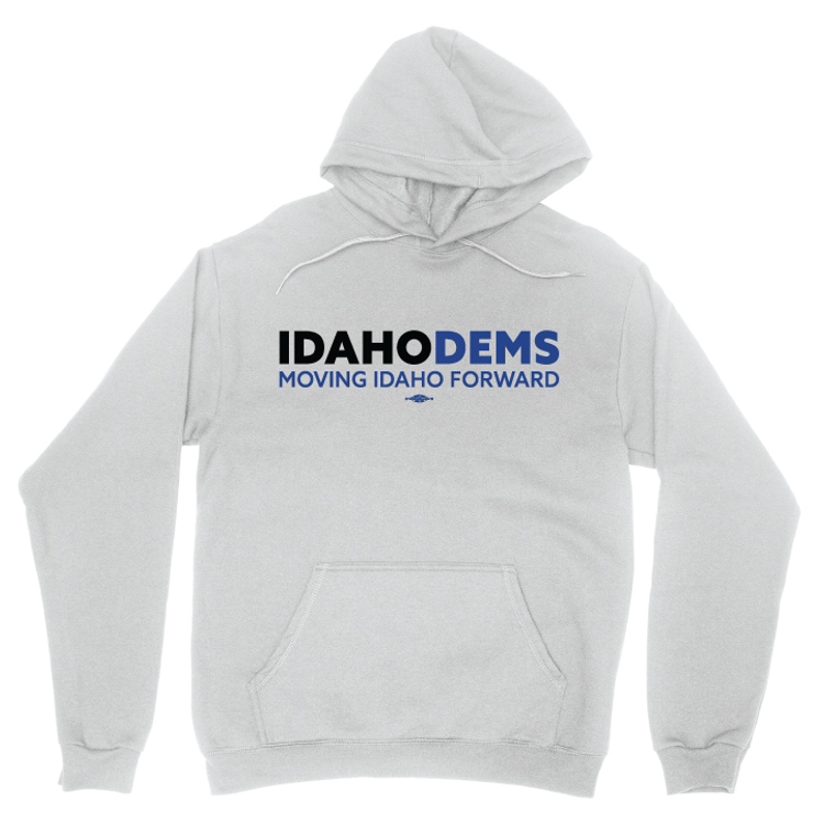Moving Idaho Forward (White Pullover Hoodie)