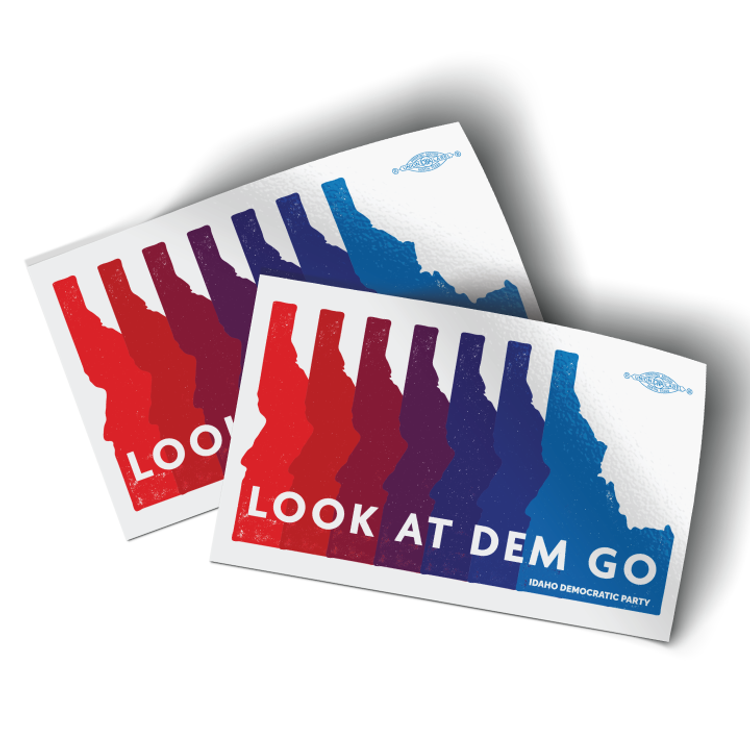 """Look At Dem Go - Logo (4"""" x 2.5"""" Vinyl Sticker -- Pack of Two!)"""