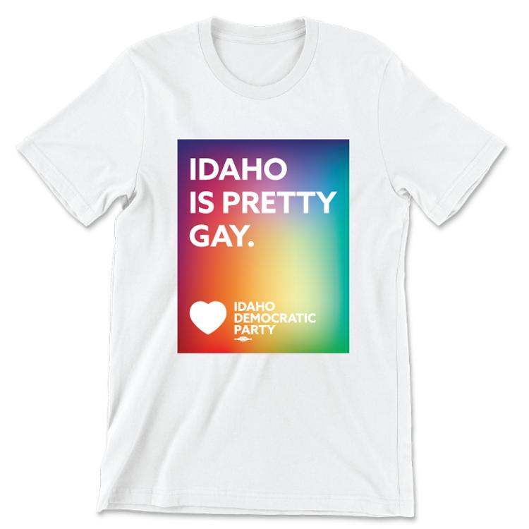 Idaho Is Pretty Gay (Unisex White Tee)