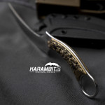 Bastinelli Mako With Bronze Skull Fixed Karambit (BastiMakoBrnzSkull)