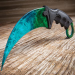 CSGO Counter Strike Cosmic Green Honshu Karambit (17 BKNK100 CSGN)
